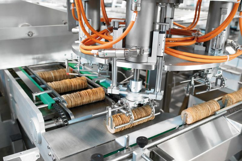 Biscuits On-Edge Packaging Line