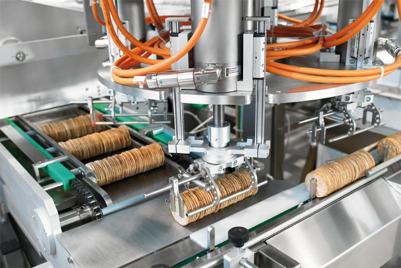 Wrapping Over-Wrapping and Case-boxing Biscuits Packaging System