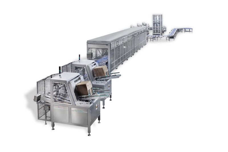 Complete stainless steel line IP65 for frozen products