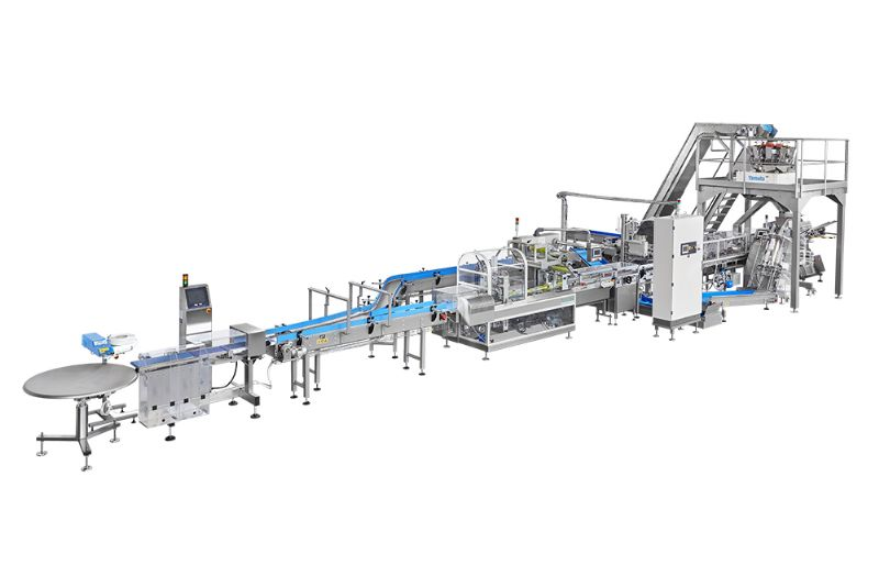 Packaging System for the simultaneous packaging of bulk products